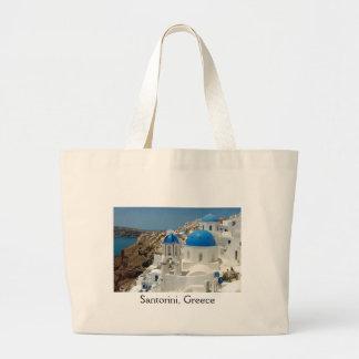 Santorini 1 large tote bag