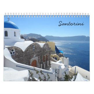 Santorini 2018 calendar