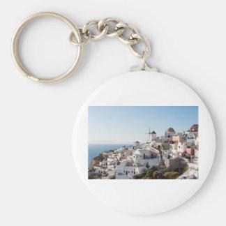 Santorini Basic Round Button Key Ring