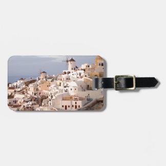 Santorini Beauty Luggage Tag