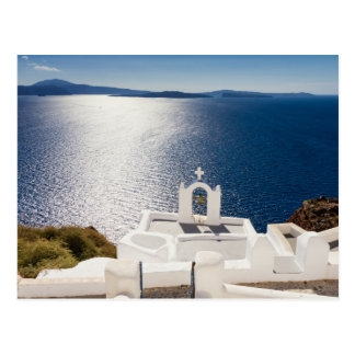 Santorini - Bell tower at Oia postcard