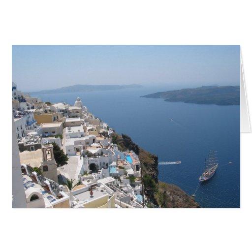 Santorini Blank Greetings Card