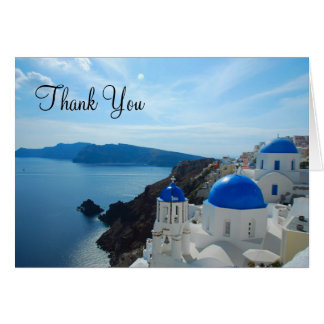 Santorini Church Domes Card