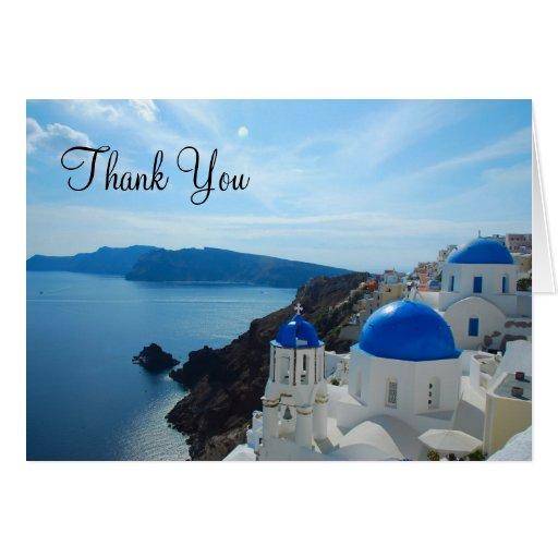 Santorini Church Domes Cards