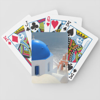 Santorini Church in the Afternoon Sun Bicycle Playing Cards