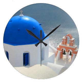 Santorini Church in the Afternoon Sun Clocks