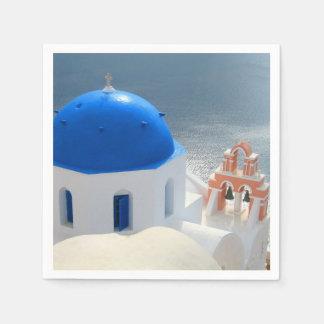 Santorini Church in the Afternoon Sun Disposable Napkin