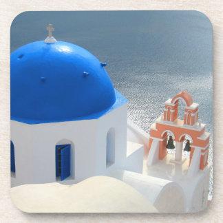 Santorini Church in the Afternoon Sun Drink Coasters