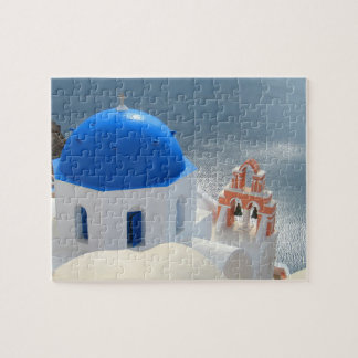 Santorini Church in the Afternoon Sun Jigsaw Puzzle