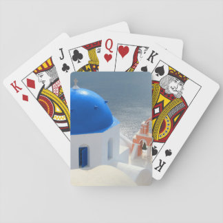Santorini Church in the Afternoon Sun Playing Cards