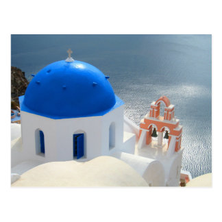 Santorini Church in the Afternoon Sun Postcard