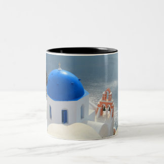Santorini Church in the Afternoon Sun Two-Tone Coffee Mug