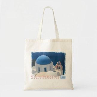 Santorini Church Tote Bag