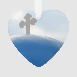 Santorini Cross in the Afternoon Sun Ornament