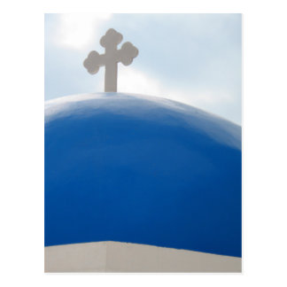 Santorini Cross in the Afternoon Sun Postcard