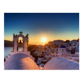 Santorini - Cycladic Oia at sunset postcard