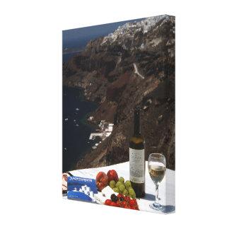 Santorini dream canvas print