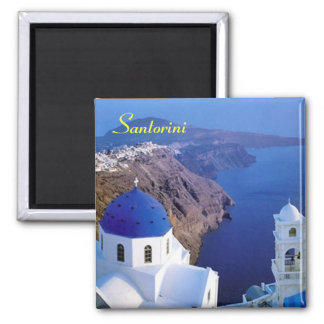 Santorini fridge magnet