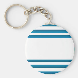 Santorini Greece Blue Design Basic Round Button Key Ring
