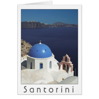 Santorini, Greece card (blank inside)