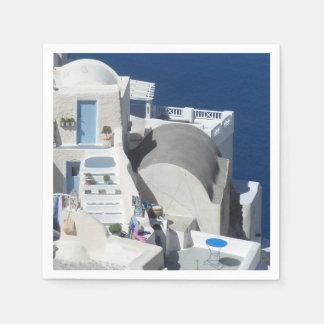 Santorini, Greece Disposable Serviette