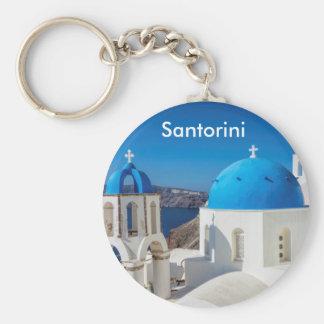 Santorini Greece Key Ring