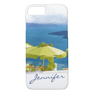 Santorini Greece Painting iPhone 8/7 Case