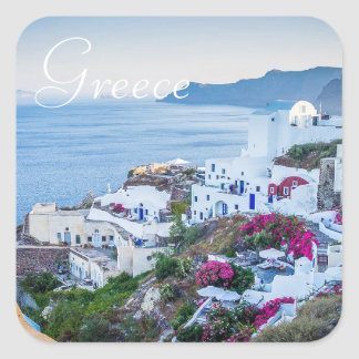 Santorini Greece Photo Stickers