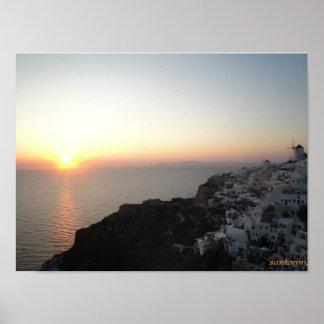 santorini, greece posters