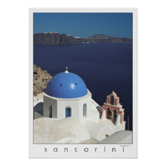 Santorini Greece Poster (film photography)