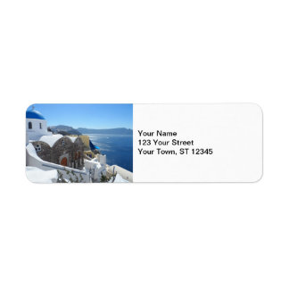 Santorini, Greece Return Address Label