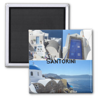Santorini, Greece Square Magnet