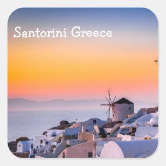 Santorini Greece Square Sticker