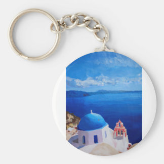 Santorini, Greece - View from Oia Keychains