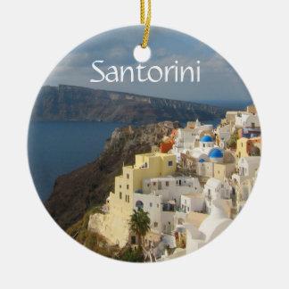 Santorini in the Afternoon Sun Ceramic Ornament
