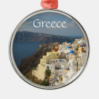 Santorini in the Afternoon Sun Metal Ornament