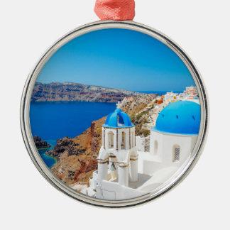 Santorini Island - Caldera, Greece Metal Ornament
