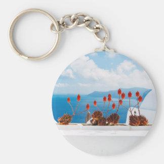 Santorini Island, Greece - Key Ring Basic Round Button Key Ring