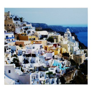 Santorini Island in Greece PHOTO Poster