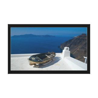 Santorini Island in the southern Aegean Sea Canvas Print