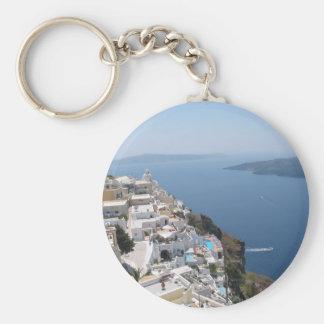 Santorini Keychain