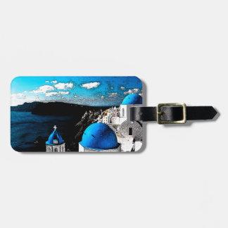 Santorini Luggage Tag