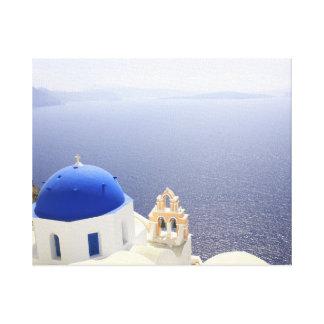 Santorini Magnificently Blue Canvas Print