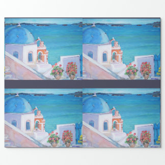 """Santorini - Matte Wrapping Paper, 30"""" x 6' Wrapping Paper"""