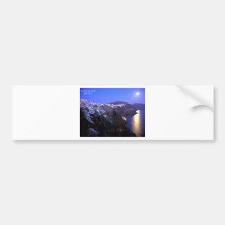 SANTORINI NIGHT BUMPER STICKER