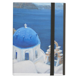 Santorini Oia oil painting iPad Air Covers
