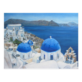 Santorini Oia oil painting Postcard