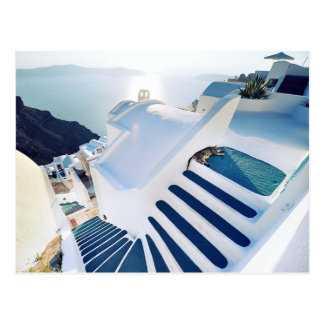 Santorini Oia Steps, Greece Postcard