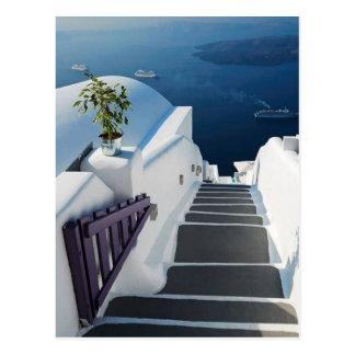 Santorini Oia Steps, Greece Postcard