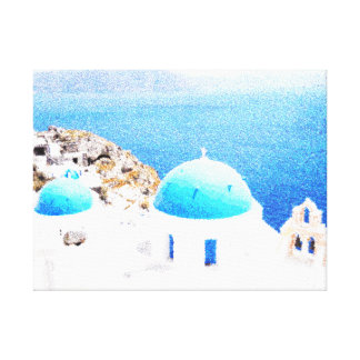 Santorini paint canvas print